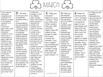 March Homework Calendar for Non-Verbal Students