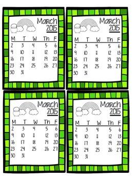 March Homework Chart