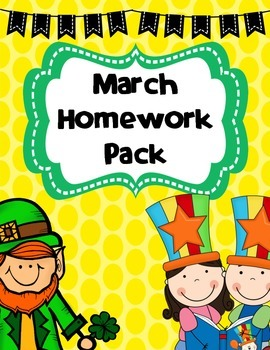 March Homework Pack
