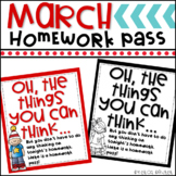 March Homework Pass FREEBIE