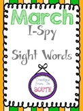 March I-Spy Sight Words/High Frequency Words