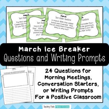 March Ice Breaker and Team Builder
