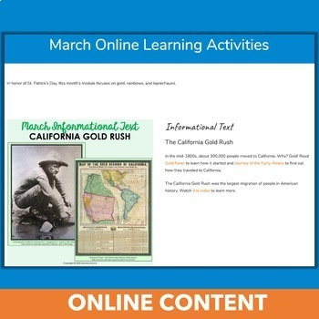 March Independent Learning Module (ILM) St. Patrick's Day Chromebook Activities