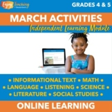 St. Patrick's Day Chromebook Activities - March Independent Learning Module