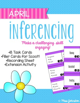 April Inferencing Task Cards