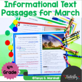 March Informational Text Reading Passages & Questions | Go