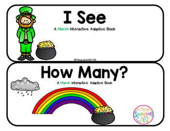 """March Interactive Adaptive books - set of 2 (""""I See and """"How Many?)"""
