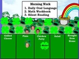 March Interactive Attendance and Lunch Count Flipchart