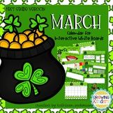 March Interactive Calendar Flipchart for 1st Grade