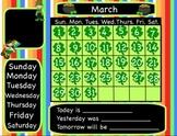 March Interactive Flipchart Calendar for Promethean Board