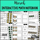 March Interactive Math Notebook Kindergarten