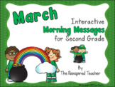 March Interactive Morning Messages for 2nd Grade