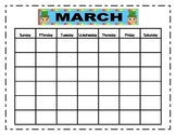 March Interactive Morning Routine Workbook