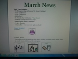 March Interactive Newsletter with Boardmaker symbols for non-verbal learners