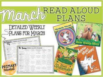 March Interactive Read Aloud Plans