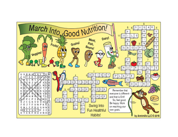 March Into Good Nutrition Two-Page Activity Set