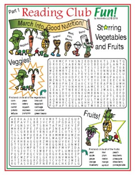 March Into Good Nutrition Word Search Puzzle Set