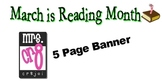 March Is Reading Month Banner