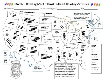 March Is Reading Month Coast to Coast Reading Activities