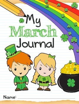 March Journal Kit Printables and SmartBoard, daily/weekly prompt questions
