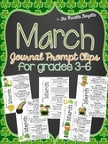 March Journal Prompt Clips- Grades 3-6