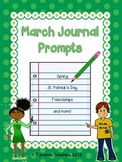 March Journal Prompts - Spring, St. Patrick's Day, Friendships, and More