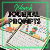 March Journal Prompts for Daily Writing Handwriting Homesc
