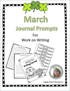 March Journal Prompts for Work on Writing