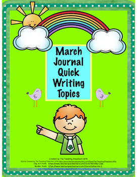 March Journal Quick Writes