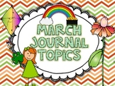 March Journal Topic for Kindergarten Level Guided Writing