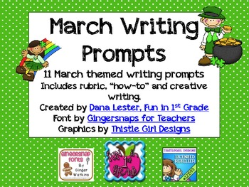 March Journal Writing Prompts