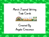 March Journal Writing Task Cards