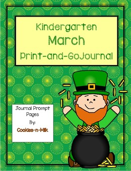 March Journal for Kindergarten - Abbreviated Version - 8 Writing Pages