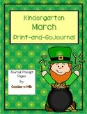 March Journal for Kindergarten - Abbreviated Version - 8 W