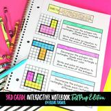 3rd Grade Interactive Notebook MATH TEST PREP