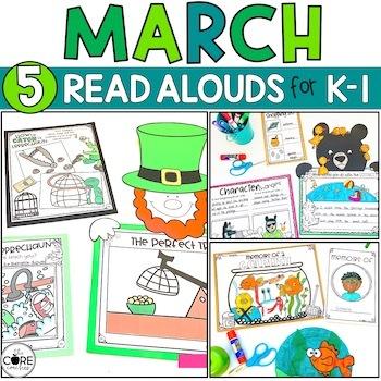 March K-1 Bundle: Interactive Read-Aloud Lesson Plans Curriculum