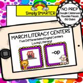 March Kindergarten Digital Literacy Centers For GOOGLE CLASSROOM