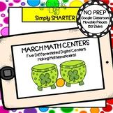 March Kindergarten Digital Math Centers For GOOGLE CLASSROOM