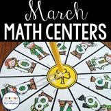 Kindergarten Math Centers March
