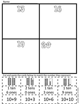 March Kindergarten Math Homework (Flex Week)
