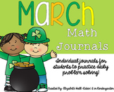 March Kindergarten Math Journal