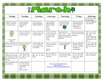 March Language Activities