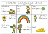 March Language Arts/ Grammar Centers