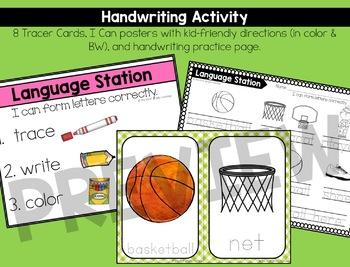 March Language Centers for Kindergarten