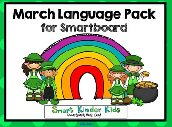 March Language Pack for SMARTboard - Updated for 2015! 14 new slides!