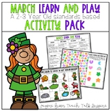 March Learn and Play Activity Pack- A 2-3 Year Old Standar