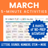 March Learning Activity Calendar