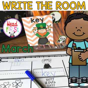 St. Patrick's Day Spring Hunts - Write the Room - I Spy Math Literacy Centers