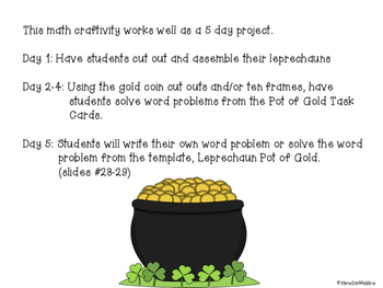 March Leprechaun Math Craftivity