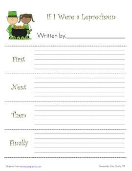 March Leprechaun Writing Pack